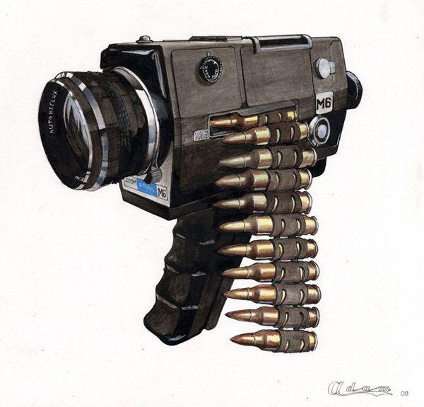 """I'm gonna shoot you with a camera! A camera, not a gun!"" -Julian Smith"