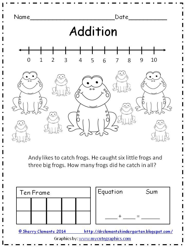Please leave some feedback-Thanks! FREEBIE: ADDITION and SUBTRACTION WORD PROBLEMS (2 pages) - Please leave me some FEEDBACK! Solve word problems using number line, drawing, ten frame, and equation!