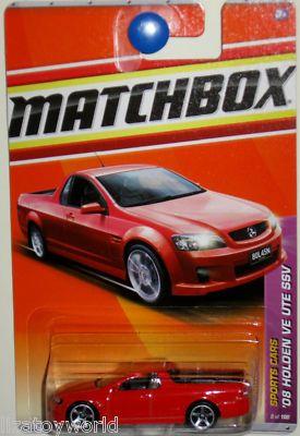 08 Holden VE UTE SSV Matchbox 2011 Sports Cars #2/100 Orange
