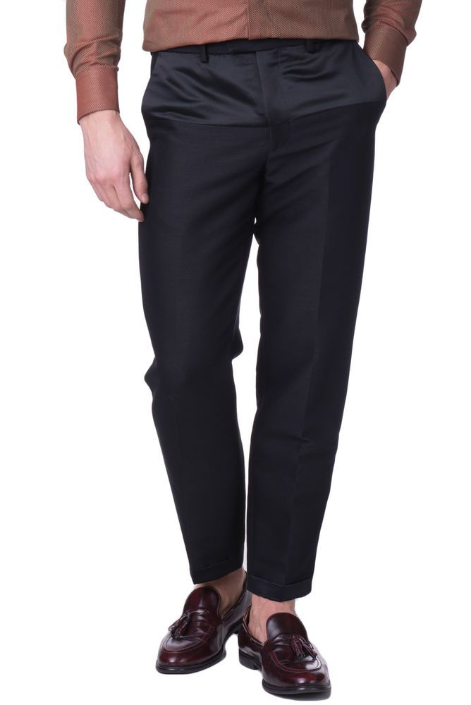 41a8be4968d EMPORIO ARMANI Flat Front Trousers Size 48   M Wool Blend Made in Italy RRP  559