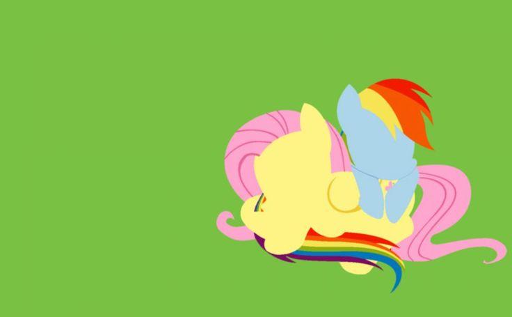 Rainbow Dash and Fluttershy HD Wallpaper