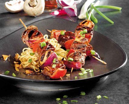 Steak and Mushroom Teriyaki Kebobs