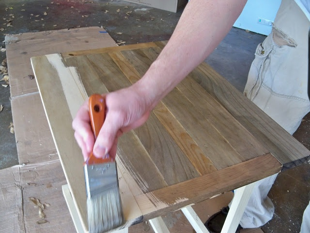 DIY Antique Stain for wood using vinegar and iced tea.  This is a real thing you guys!  So impressed.