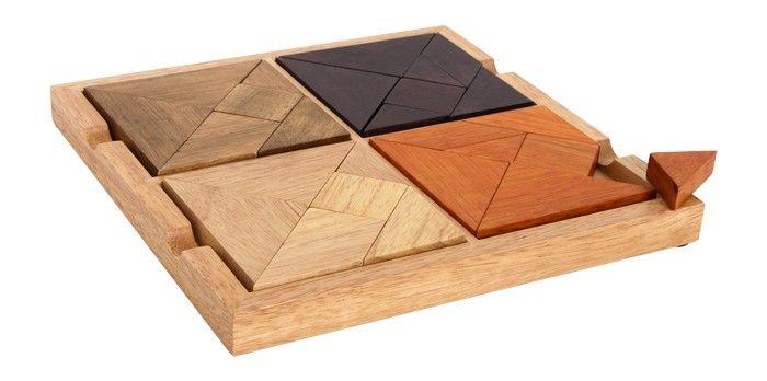 Puzzle drewniane 4 w 1