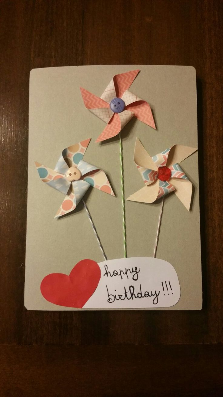 card birthday biglietto compleanno girandole girandola