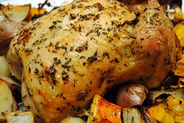 Herb Roasted Chicken and Vegetables | Chicken and Poultry | Pinterest