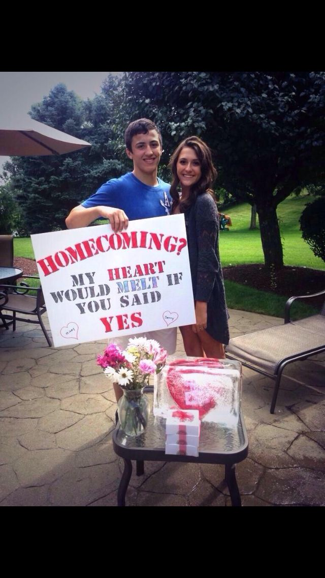 51 best homecoming promposals images on pinterest for Best at home proposal ideas