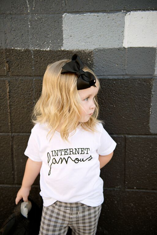 In the growing world of blogging and social media, we all want to be internet famous, right? And your kids already are according to your Instagram account. Make it official with this adorable t-shirt.
