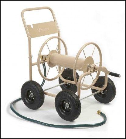 Metal Hose Reel Cart 4 Wheel