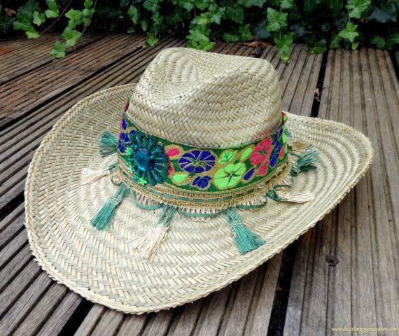 Gypsy Ibiza Straw Beach Hat  Cowboy Hat  by DazzlingGypsyQueen, €29.95
