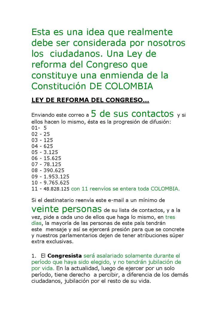 Propuesta politica para los colombianos