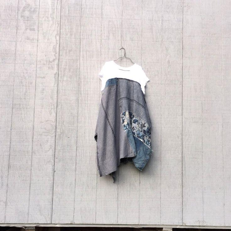 Upcycled ladies clothing / blue jean woman women Funky Denim Dress / Eco Dress / Denim Artsy Dress by CreoleSha by CreoleSha on Etsy