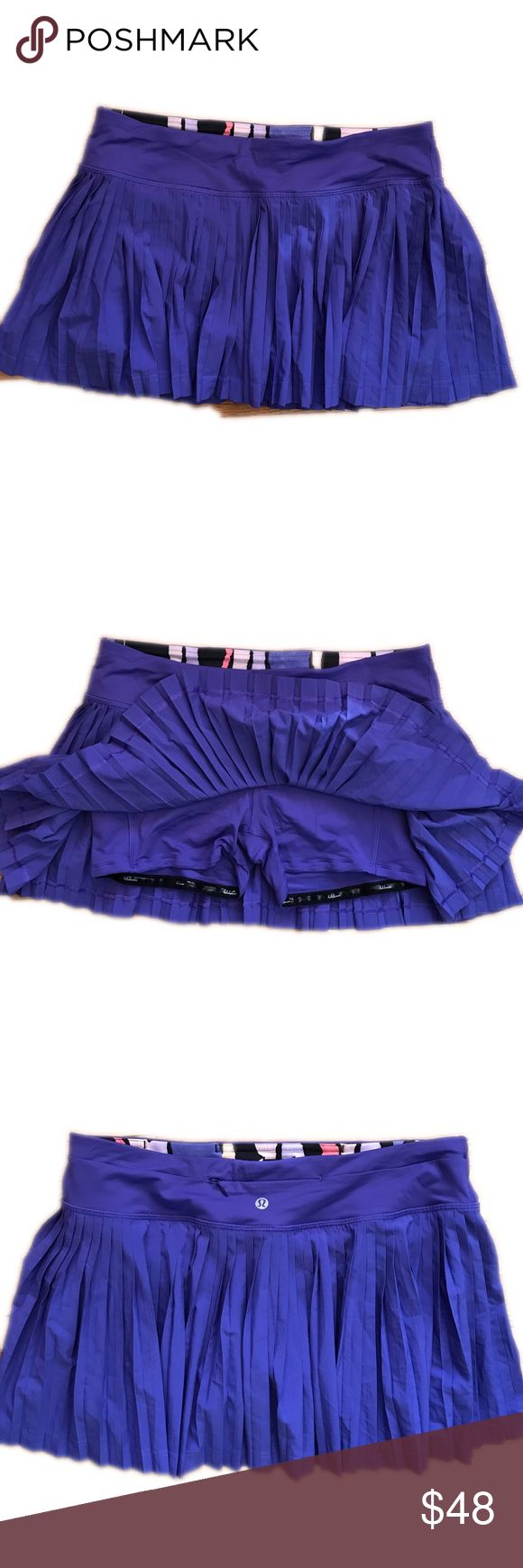 New Listing🎉 Lululemon Pleat To Street Skirt NWOT/Maybe worn once? Like-new Lululemon Pleat To Street Skirt. I LOVE these but have quite a few and decided purple is not my color! Built in shorts, zippered back pocket. Photo #4 is a stock photo with the wrong color, shown for fit only.                                                                     💕Love the Item but not the price? Make a reasonable offer 💕 (B3) lululemon athletica Skirts