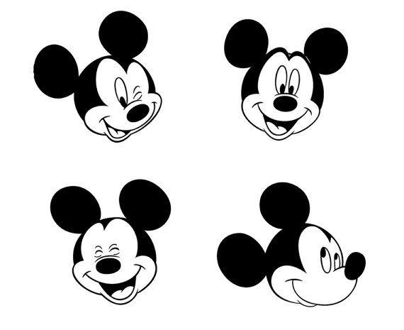 Micky Maus 8 Gesicht Entwürfe. Konfektionierbare