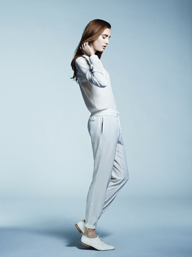 MERCURY MARY SILK SHIRT AND BLANK GENERATION TROUSERS IN JET STREAM WHITE - FWSS SU13 http://fallwinterspringsummer.com