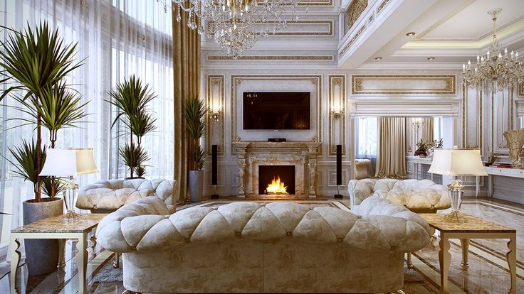 5 luxurious interiors inspired by louis era french design for Mobilia qatar