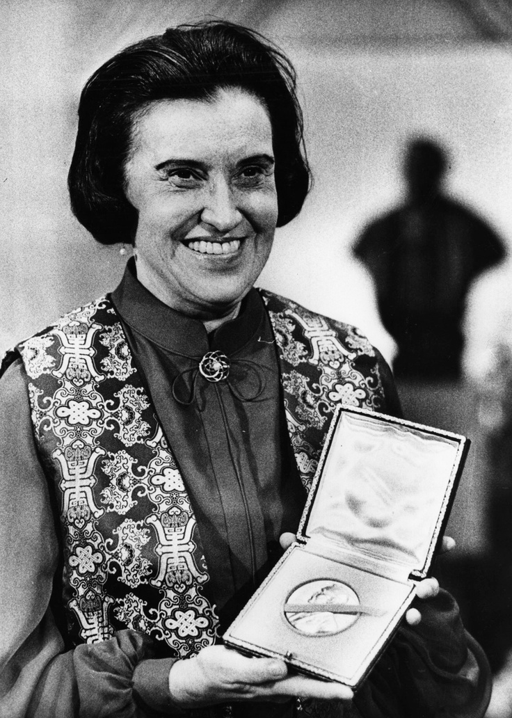 Rosalyn Sussan Yalow, co-recipient of the Nobel Prize in Medicine/Physiology in 1977.  She and Dr. Solomon Berson, discovered radioisotopes for diagnosis to measure minute quantities of biologically active molecules. Both researchers refused to patent the