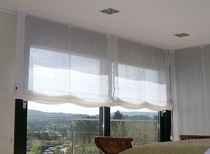 25 melhores ideias de cortinas transparentes no pinterest - Hacer estor enrollable ...