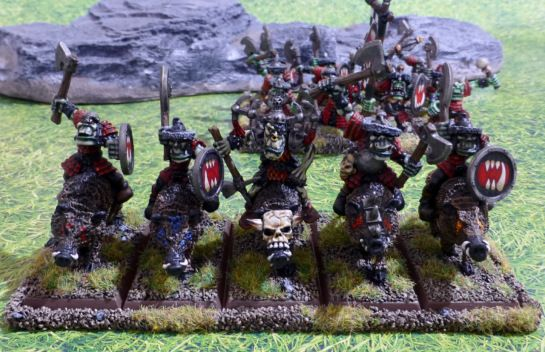 Warhammer Orcs Boar Riders for Oldhammer