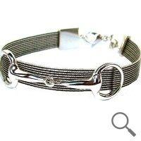 The original collection by designer Nanna Salmi  Horsehair bracelet Scirocco, Ribbon 9mm