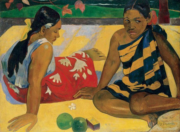 Paul Gauguin, DUE DONNE THAITIANE, 1891, 61 cm x 91 cm, Colore ad olio, Museo d'Orsay