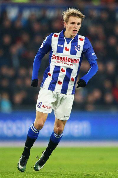 Martin Odegaard of sc Heerenveen in action during the Dutch Eredivisie match between PSV Eindhoven and SC Heerenveen held at Philips Stadion on January 22, 2017 in Eindhoven, Netherlands.