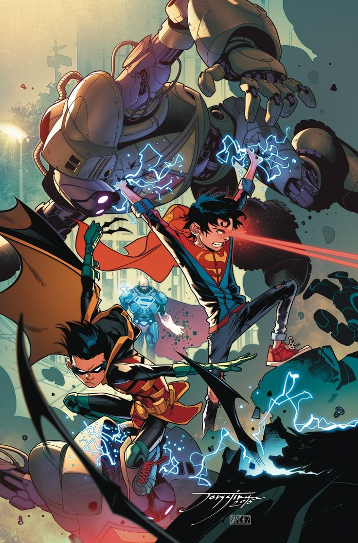 SUPER SONS #2 Written by PETER J. TOMASI Art and cover by JORGE JIMENEZ Variant cover by DUSTIN NGUYEN