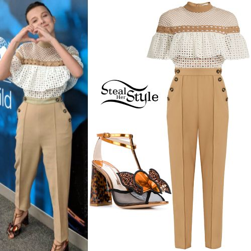 fb92d8537d8c Millie Bobby Brown Clothes & Outfits | Steal Her Style | People ...