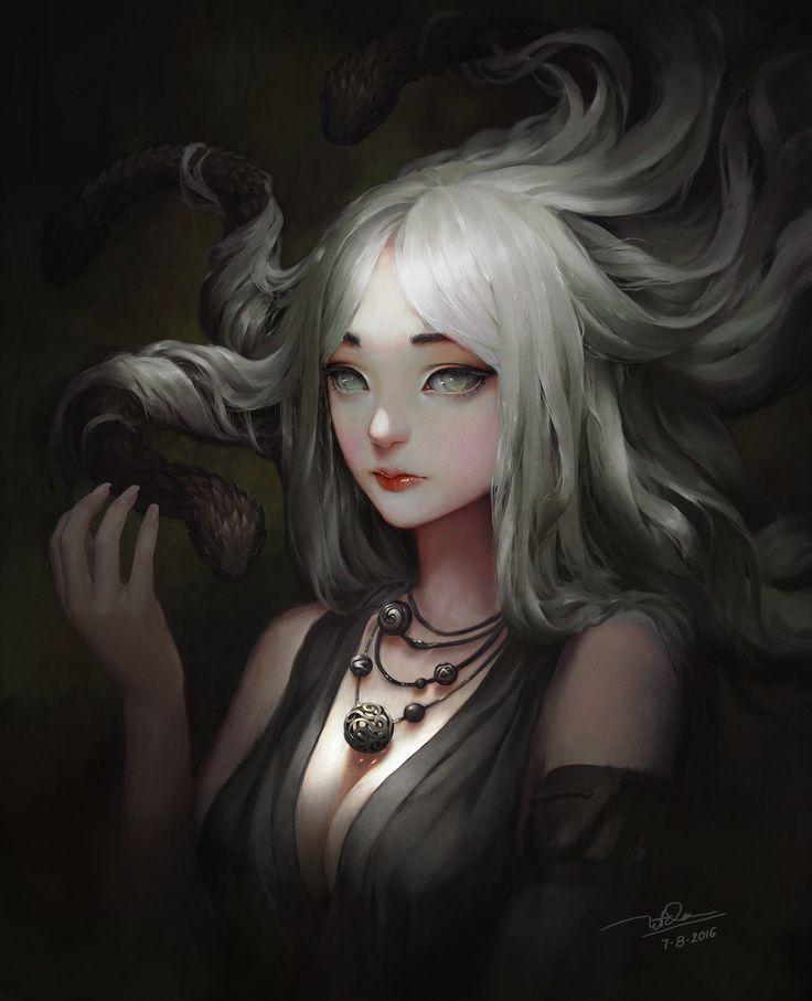 medusa, Dao Le Trong on ArtStation at https://www.artstation.com/artwork/nDVbr