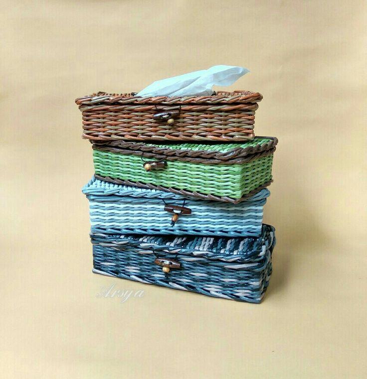 Kotak tisu, paper work, anyaman kertas