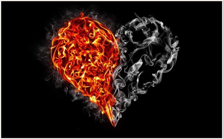 Smoke Heart And Fire Heart Art Wallpaper | smoke heart and fire heart art wallpaper 1080p, smoke heart and fire heart art wallpaper desktop, smoke heart and fire heart art wallpaper hd, smoke heart and fire heart art wallpaper iphone