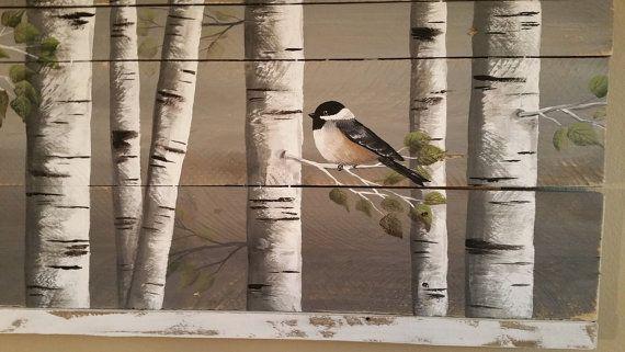 Arte de paletas madera de abedul blanco por TheWhiteBirchStudio