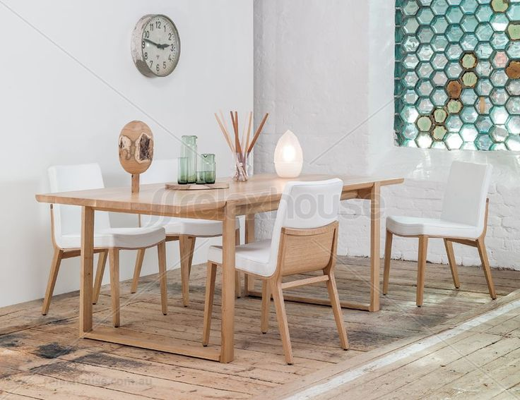 Delta Natural Solid Oak 220cm Dining Table - TON CZ Original