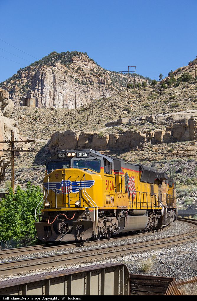 RailPictures.Net Photo: UP 5126 Union Pacific EMD SD70M at Wasatch Mountains, Utah by J. W. Husband