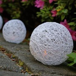 DIY Yarn Lanterns for Flameless Tea Lights and Votives