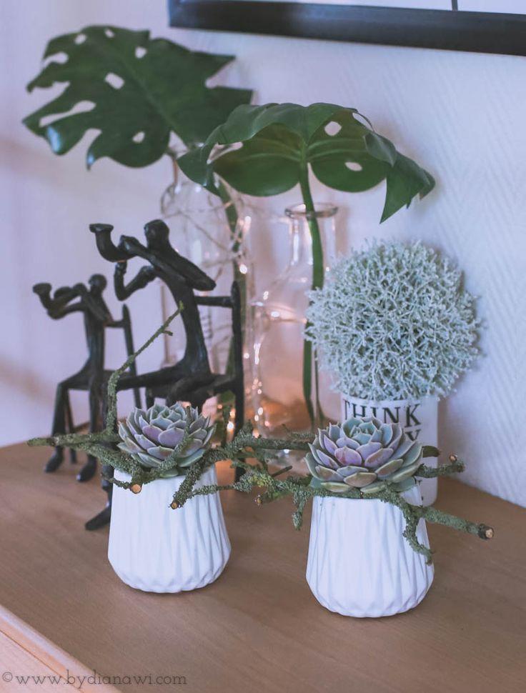 Juledekoration med små husløg, www.bydianawi.com