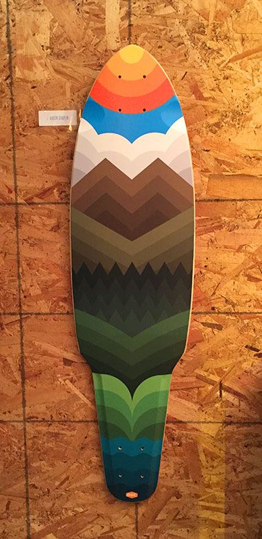 Draplin Design Co. skateboard deck (2014) #thicklines