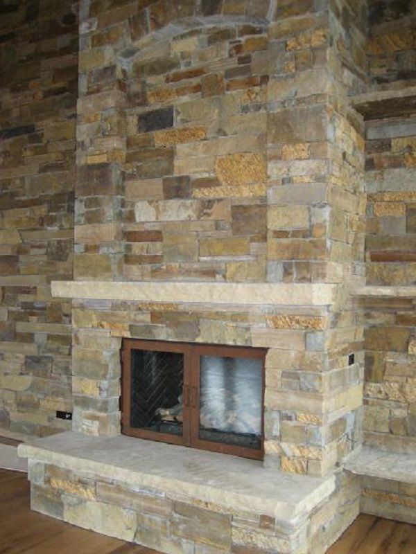Stone Indoor Fireplaces 32 best mountain house fireplace stone images on pinterest