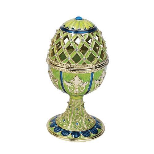 Design Toscano Jeweled Trellis Faberge - Style Enameled Egg | Wayfair
