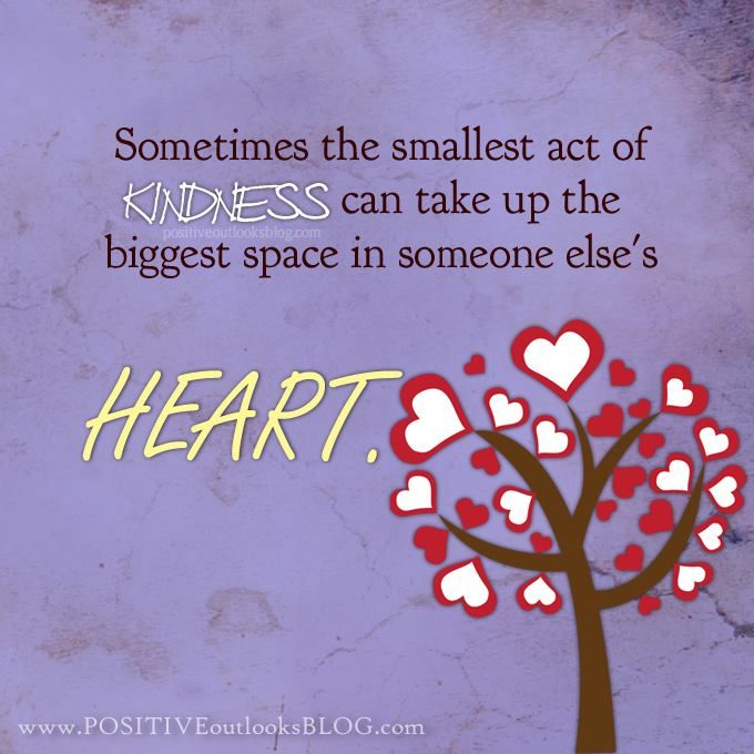 Sometimes The Smallest Act Of Kindness Can Take Up The