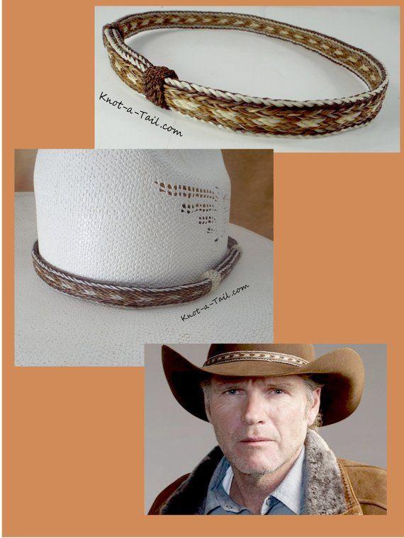 Longmire Hat Band Horsehair Hat Band Cowboy Horsehair Hat Etsy In 2021 Cowboy Hat Bands Cowboy Hats Western Hat Bands