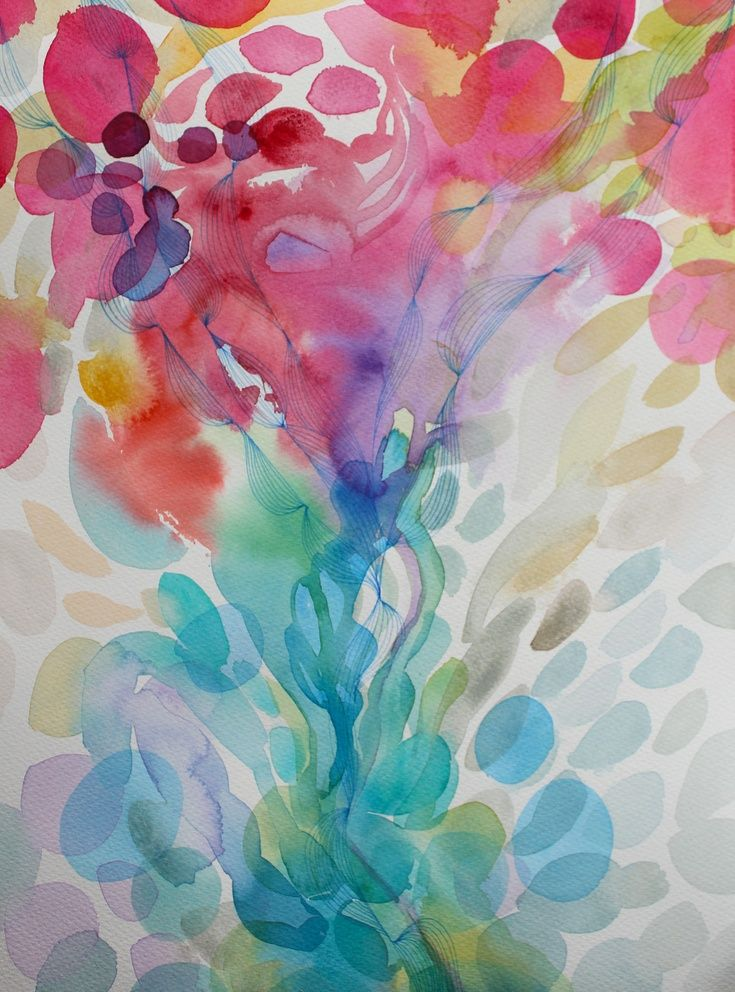 ARTFINDER: Cherish by Helen Wells  Abstract watercolour painting