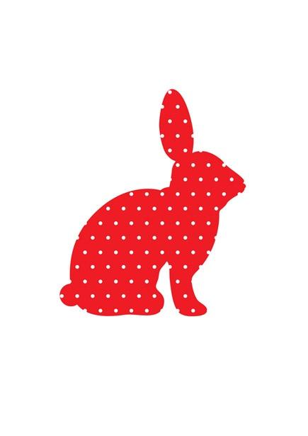 Origineel kraamcadeau muursticker konijn rood babykamer.  Muursticker met konijn     Deze muursticker komt uit Fabric Friends collectie van KEK Amsterdam. Deze gezellige dieren met stippen toveren de babykamer of kinderkamer in een keer om tot een waar dierenrijk.    Tip: Geef deze geweldige muursticker als babycadeau!