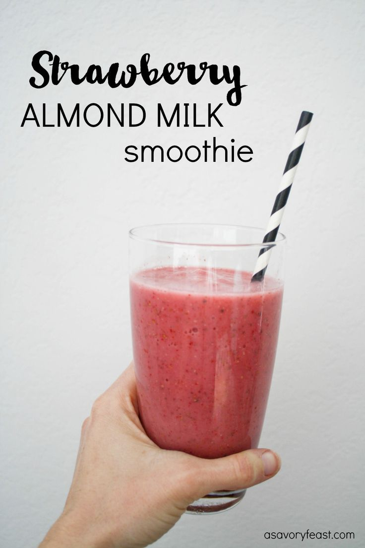This simple snack is a breeze to make and oh so refreshing! If you've never tried making a smoothie with almond milk, you need to check out this recipe.