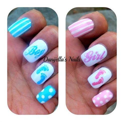 Baby shower nails  by DanijellaDavis - Nail Art Gallery nailartgallery.nailsmag.com by Nails Magazine www.nailsmag.com #nailart