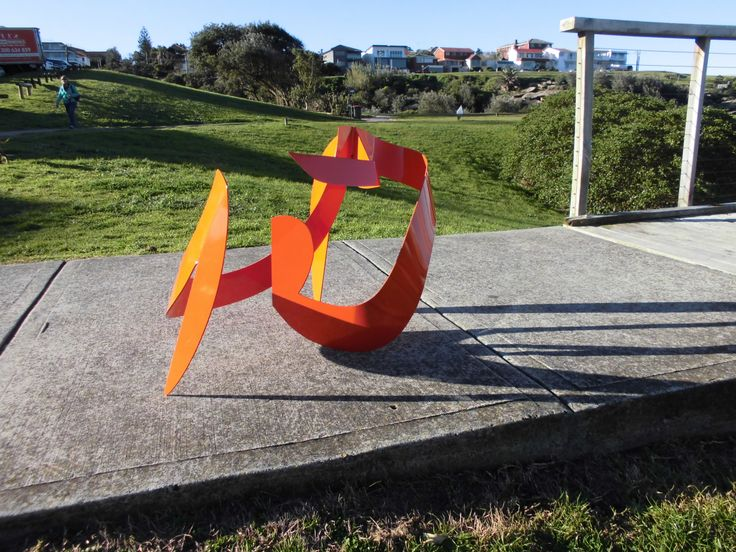"""Summer"" Steel Painted 64x35x60cms.Maurice Schlesinger, sculptor"