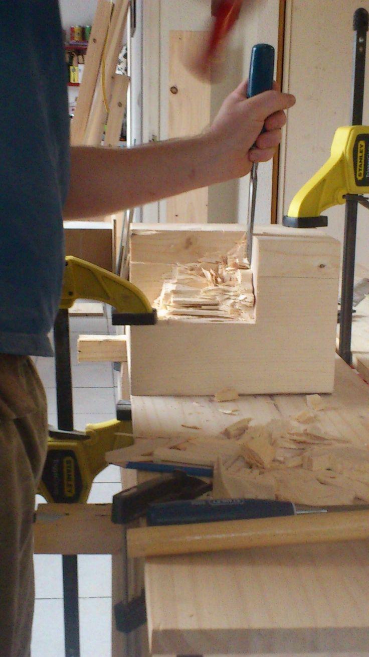 Création d'un cadre de lit en bois [Plan gratuit] | Notre maison ossature bois