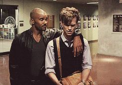 queue criminal minds Matthew Gray Gubler spencer reid derek morgan mine: cm Shemar Moore this is one of the best friendship ever