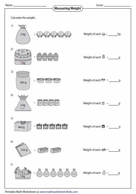 weight of single item school visuals 2nd grade worksheets 3rd grade math math measurement. Black Bedroom Furniture Sets. Home Design Ideas