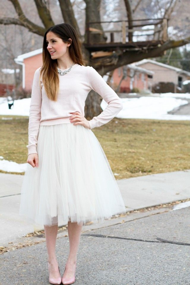 tulle skirt tutorial // cottonandcurls